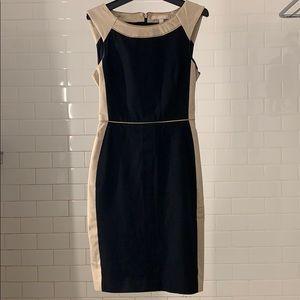 Banana Republic Black and Beige Dress